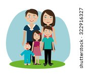 family and home design  vector... | Shutterstock .eps vector #322916327