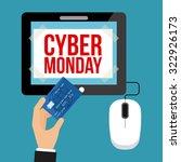 cyber monday design  vector... | Shutterstock .eps vector #322926173