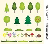 forest and garden flat symbols...