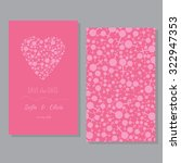 perfect card templates with... | Shutterstock .eps vector #322947353