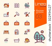 lineo colors   real estate and... | Shutterstock .eps vector #322954127