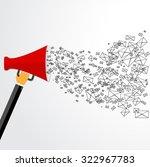 promotion concept. loudspeaker... | Shutterstock .eps vector #322967783