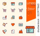 lineo colors    shopping and e... | Shutterstock .eps vector #322977863
