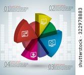vector abstract 3d paper... | Shutterstock .eps vector #322978883