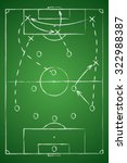 Soccer Tactic Table. Vector...