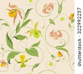 vintage flower wallpaper pattern | Shutterstock .eps vector #322992257