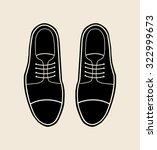 classic black men's shoes....   Shutterstock .eps vector #322999673