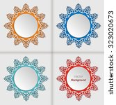 set of 3d circle frames with... | Shutterstock .eps vector #323020673