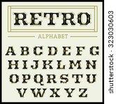 bold decorative vintage font | Shutterstock .eps vector #323030603
