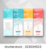 set offer tariffs. ui ux vector ... | Shutterstock .eps vector #323034023