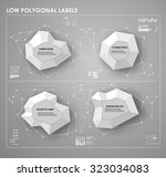 black and white low polygonal...
