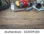 Blurred Hiking Equipments In...