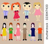 people. set of vector images. | Shutterstock .eps vector #323047433