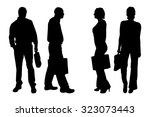 vector silhouette of people on...   Shutterstock .eps vector #323073443