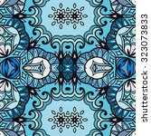 vector geometric and floral... | Shutterstock .eps vector #323073833