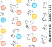seamless pattern with different ... | Shutterstock .eps vector #323077133