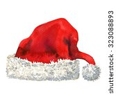 santa claus red hat isolated ... | Shutterstock . vector #323088893