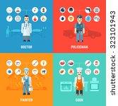 profession design concept set... | Shutterstock . vector #323101943