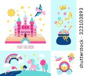 fairy tale book concept with... | Shutterstock . vector #323103893