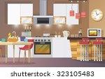 kitchen interior concept with... | Shutterstock . vector #323105483