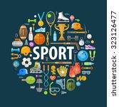 sport vector logo design... | Shutterstock .eps vector #323126477