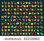 fruit and vegetables vector... | Shutterstock .eps vector #323130863