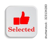 selected icon. internet button... | Shutterstock . vector #323134283