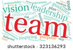 team word cloud on a white... | Shutterstock .eps vector #323136293