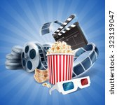 movie banner with tape | Shutterstock .eps vector #323139047