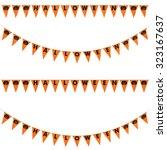 orange halloween pumpkins... | Shutterstock . vector #323167637