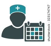 doctor appointment vector icon. ... | Shutterstock .eps vector #323174747