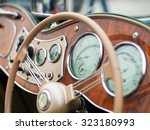 Dashboard Of Vintage Car