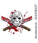 hockey mask with machetes