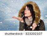 Beautiful Woman In Winter...