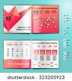 business brochure  booklet... | Shutterstock .eps vector #323205923