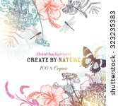 floral vector background with... | Shutterstock .eps vector #323235383