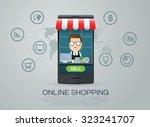 e commerce business shopping... | Shutterstock .eps vector #323241707