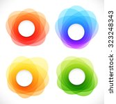 set of colorful round abstract... | Shutterstock . vector #323248343