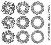 set of round frames. nine... | Shutterstock .eps vector #323249507