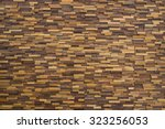 Wooden Blocks Stacked As Wall