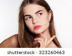 portrait of attractive... | Shutterstock . vector #323260463