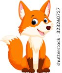 cute fox cartoon | Shutterstock .eps vector #323260727