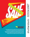 sale shopping background and...   Shutterstock .eps vector #323261087