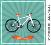 bicycle silhouette.... | Shutterstock . vector #323278163