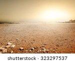Sandy Desert In Egypt At The...
