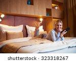 young business woman relaxing... | Shutterstock . vector #323318267