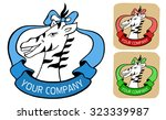 zoo logo or label with wild...   Shutterstock .eps vector #323339987