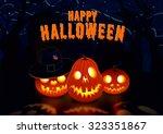 halloween postcard 2 | Shutterstock . vector #323351867