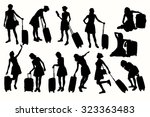 silhouettes women with... | Shutterstock .eps vector #323363483