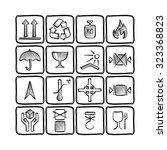 set of hand drawn logistics... | Shutterstock .eps vector #323368823